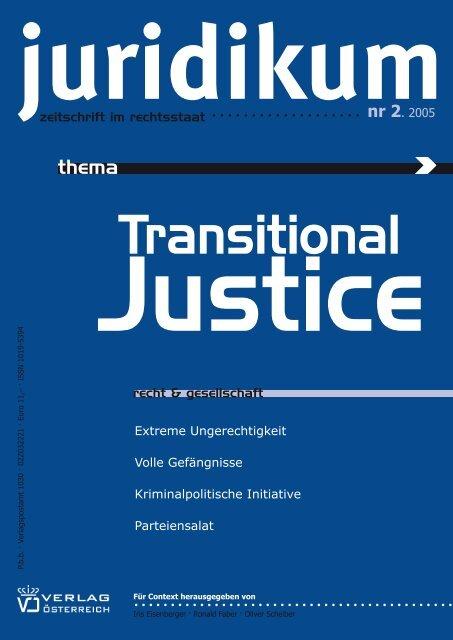 Thema Transitional Justice - juridikum, zeitschrift für kritik | recht ...