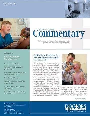 2012 Summer/Fall Burn Care Commentary - Doctors Hospital