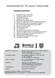 Klubnachrichten von 2009 - SAC Sektion Zindelspitz