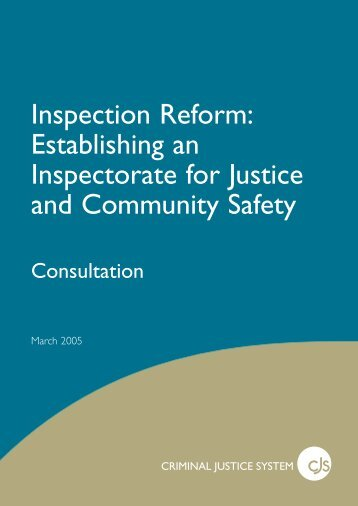 Inspection Reform - Crown Prosecution Service