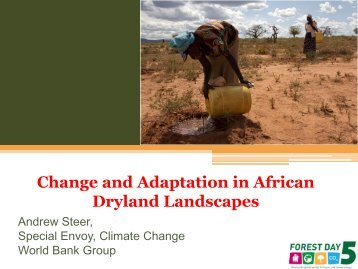 Change and Adaptation in African Drylands - Forests and Climate ...