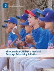 2011 Compliance Report - Advertising Standards Canada