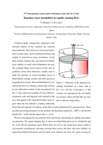 Boundary layer instabilities in rapidly rotating flows - School of ...