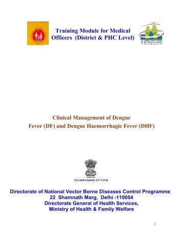 Training Module for Medical Officers (District & PHC Level) - NVBDCP