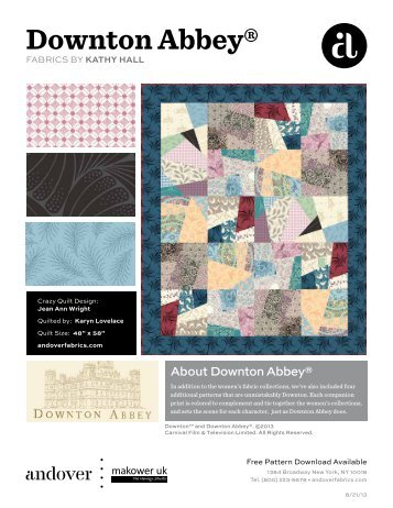 Downton Abbey-Crazy Quilt