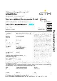 Deutschen Kalibrierdienst - GTM GmbH