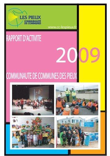 Rapport d'activité des services 2009 - Communauté de communes ...
