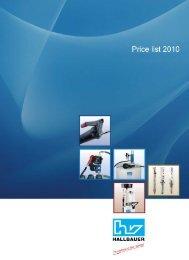 Price list - Hallbauer Viernheim