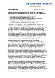 Pressemitteilung - Hamburger Volksbank