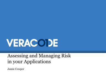 Jamie Cowper, Assessing Application Risk - Isaca