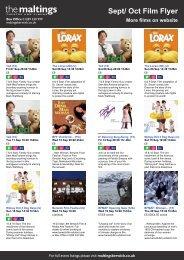 Sept/ Oct Film Flyer More films on website - The Maltings