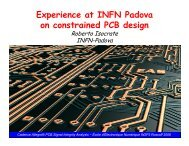 Experience at INFN Padova on constrained PCB design - AGATA ...