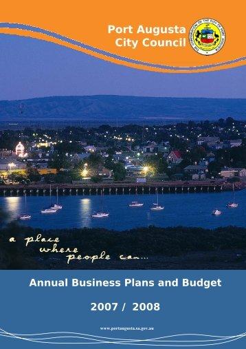 Budget 2007 - 2008 - Port Augusta - SA.Gov.au