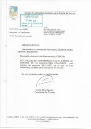Conse'0 de A ricultura Ecológica de la Región de Murcia - Behr AG