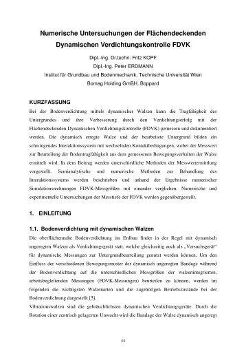 Numerische Untersuchungen der Flächendeckenden Dynamischen ...