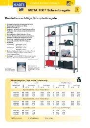 META FIX® Schraubregale - HARTL Betriebseinrichtungen