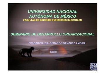 organización - Universidad Nacional Autónoma de México