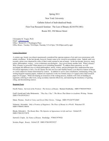Download - Gallatin School of Individualized Study - New York ...