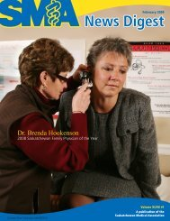 Dr. Brenda Hookenson - Saskatchewan Medical Association