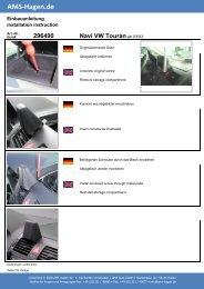 Navi VW Touran - AMS Hagen