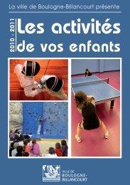 Les centres de loisirs - Boulogne - Billancourt
