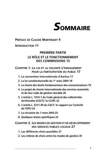 Les services publics locaux - Sommaire - Vuibert