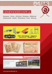 Gemeindebedarf-aktuelle Ausgabe - gemeindebedarf.at