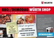 uitnodiging! bbq-/demodag würth shop - Würth Nederland