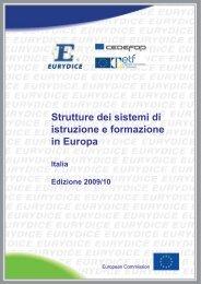 Strutture dei sistemi di istruzione e formazione in Europa Italia ...
