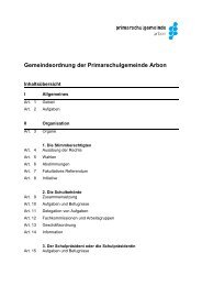 Gemeindeordnung der Primarschulgemeinde Arbon - Psgarbon.ch