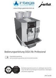 Bedienungsanleitung GIGA X9c Professional