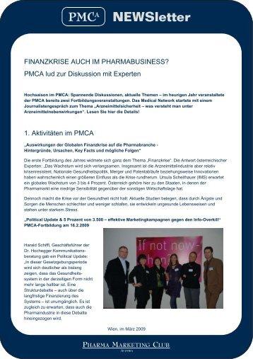 Aktuelles im Newsletter 2 vom Pharma Marketing Club