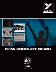 NEW PRODUCT NEWS - Yorkville Sound