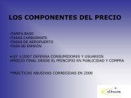 LOS COMPONENTES DEL PRECIO