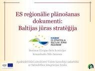Baltijas jūras stratēģija - Rīgas Plānošanas Reģions