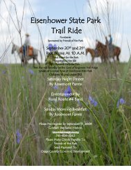 Eisenhower State Park - Kansas Horse Council
