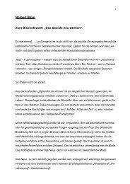 """Norbert Blüm Zum Bischofswort: """"Das Soziale neu ... - Welt der Arbeit"""