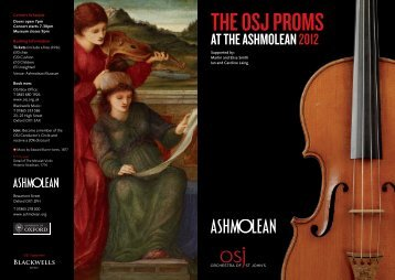 Download the programme for 2012 - The Ashmolean Museum