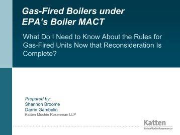 US EPA's Boiler MACT and CISWI Rules - Katten Muchin Rosenman ...