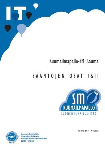 SM 2002, säännöt, osat I ja II - Pallo.net