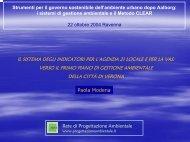 Scarica la presentazione (256Kb) - Agenda 21 Locale del Comune ...