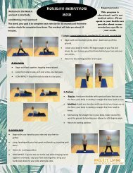 Week 6 Body Conditioning Workout - PROJECT: LIVING
