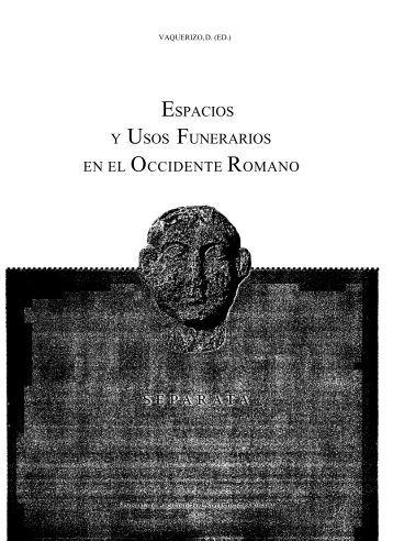 ESPACIOS USOS FUNERARIOS OCCIDENTE ROMANO