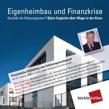 Eigenheimbau und Finanzkrise - Betonwerk Bürkle GmbH & Co.KG