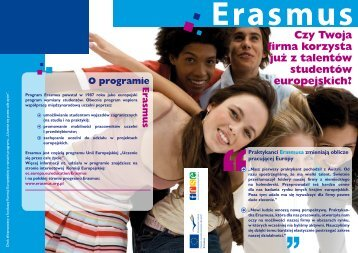 Czy Twoja firma korzysta już z talentów studentów ... - Erasmus