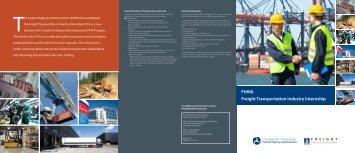 FHWA Freight Transportation Industry Internship - FHWA Operations ...