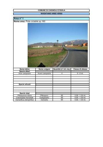 Inventario verde pubblico - Comune di Chignolo d'Isola