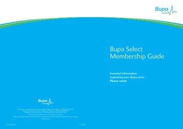 Bupa Select Membership Guide - My Barratt Benefits