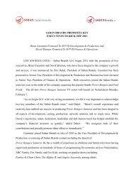 Brian Casentini Promoted To SVP Of Development ... - Saban Brands