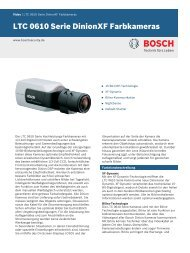 LTC 0610 Serie DinionXF Farbkameras - Bosch Security Systems
